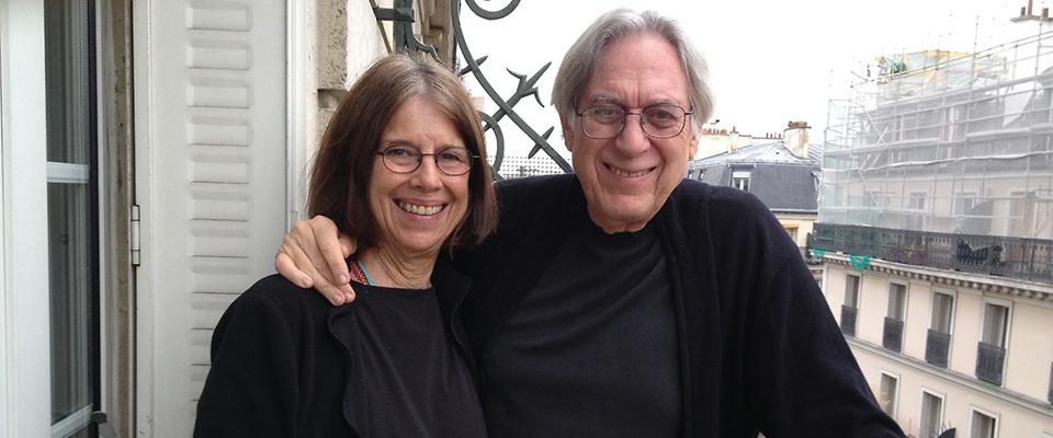 Visiting with the beautiful couple Professor Stanley and Judy Hallet in Paris